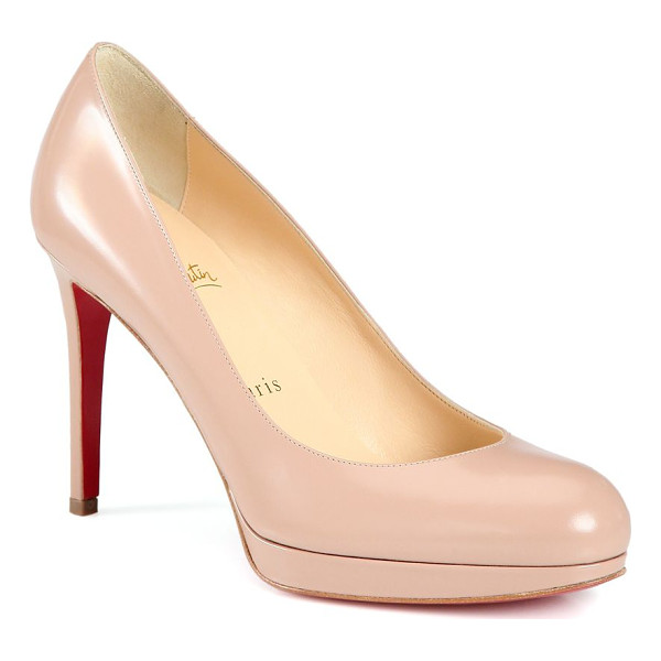 CHRISTIAN LOUBOUTIN new simple patent leather pumps - Essential round-toe pump in sleek patent leather....