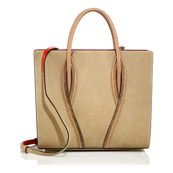 CHRISTIAN LOUBOUTIN Paloma large zipper-trimmed leather tote - Structured leather tote with edgy zipper detailDouble top...