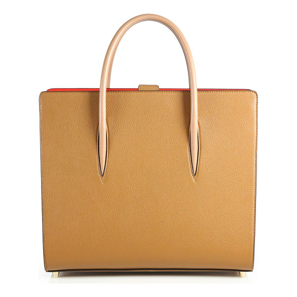 CHRISTIAN LOUBOUTIN paloma pebbled leather tote - Structured pebbled leather tote with smooth handles. Double