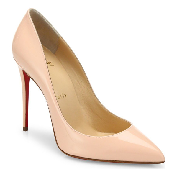 CHRISTIAN LOUBOUTIN pigalle follies 100 patent leather pumps - Quintessential signature pump in glossy Italian leather....