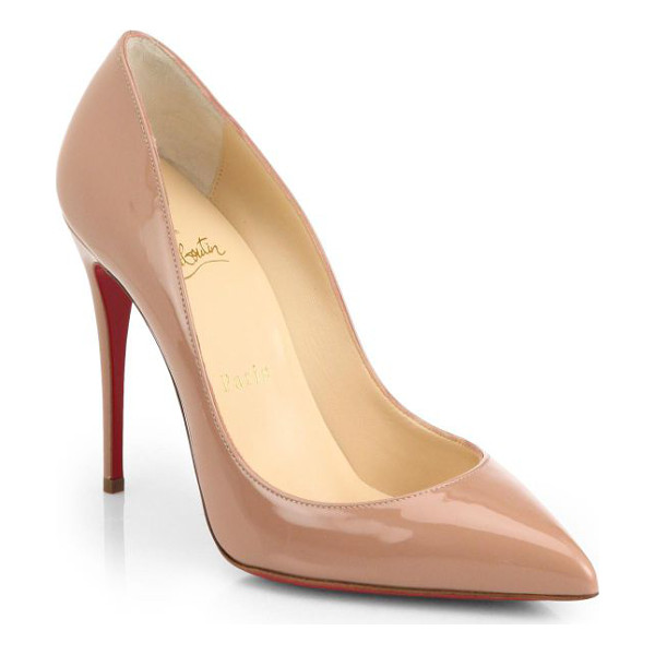 CHRISTIAN LOUBOUTIN pigalle follies 100 patent leather pumps - Quintessential signature pump in glossy Italian leather.