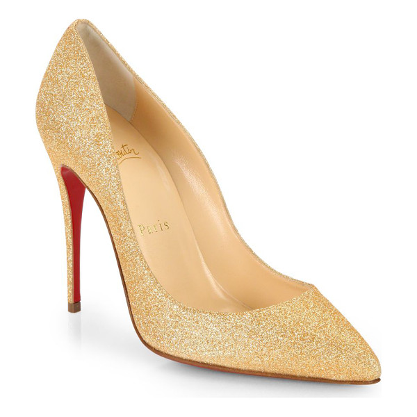 CHRISTIAN LOUBOUTIN Pigalle glitter pumps - A timeless style enlivened with allover glitter for a...