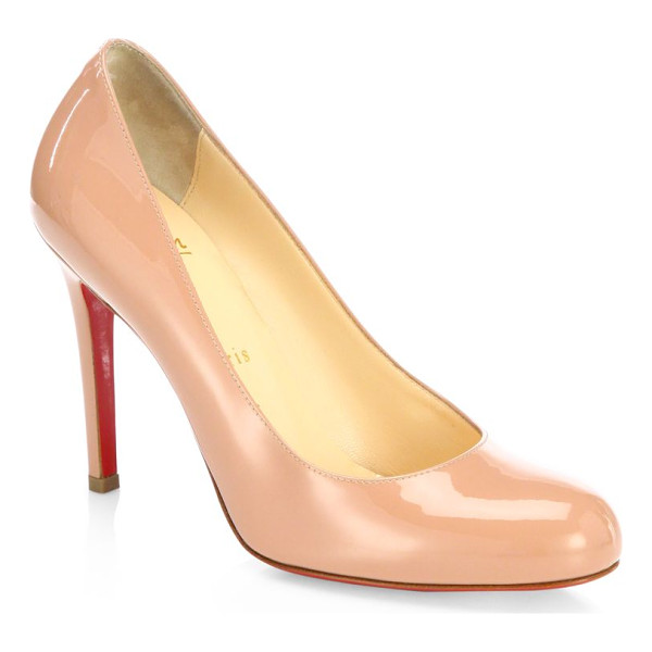 CHRISTIAN LOUBOUTIN simple 100 patent leather pumps - Timeless round-toe pump in glossy patent leather....