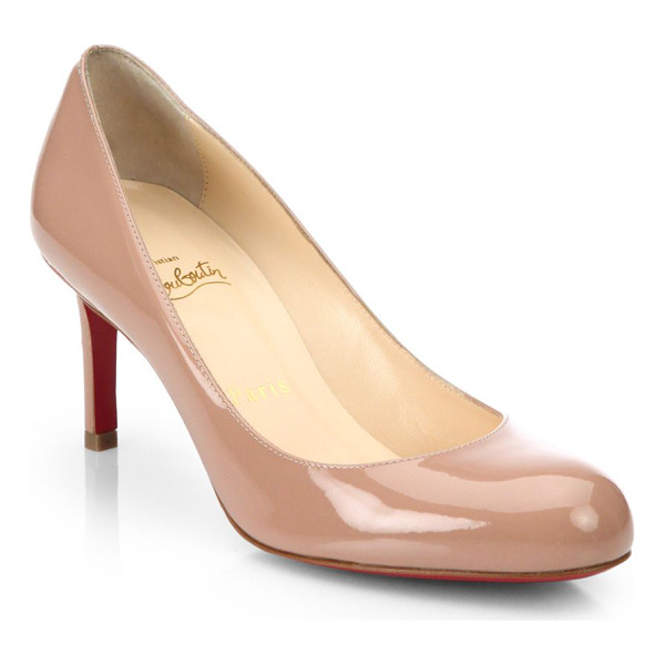 CHRISTIAN LOUBOUTIN simple 70 patent leather pumps - Timeless round-toe silhouette in gleaming finish....