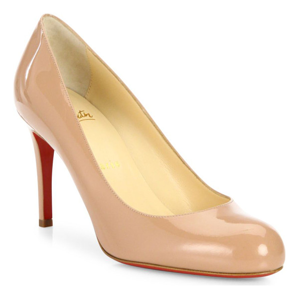 CHRISTIAN LOUBOUTIN simple 85 patent leather pumps - Timeless round-toe silhouette in patent leather....