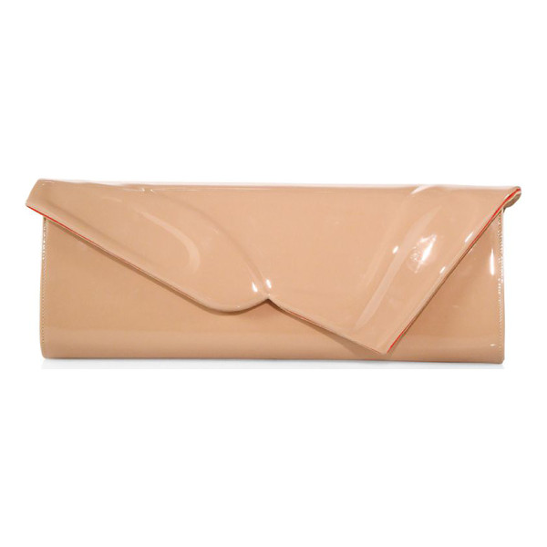 CHRISTIAN LOUBOUTIN so kate patent leather baguette clutch - Patent clutch with embossed iconic 'So Kate' pumps.