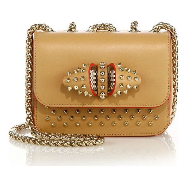 CHRISTIAN LOUBOUTIN Sweet charity baby studded leather crossbody bag - Signature stud design updated with quirky inverted...