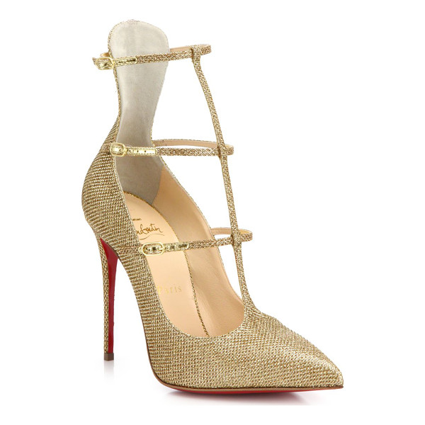 CHRISTIAN LOUBOUTIN Toerless muse triple-strap pumps - Beautifully crafted in a striking triple-strap silhouette,...