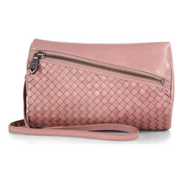 CHRISTOPHER KON Weekend woven leather convertible shoulder bag - A demure pouch combining woven and smooth leather converts...