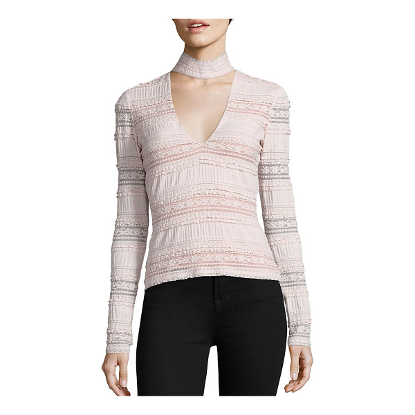 CINQ A SEPT cecily choker lace top - Lace top updated with choker-inspired neckline. Choker...
