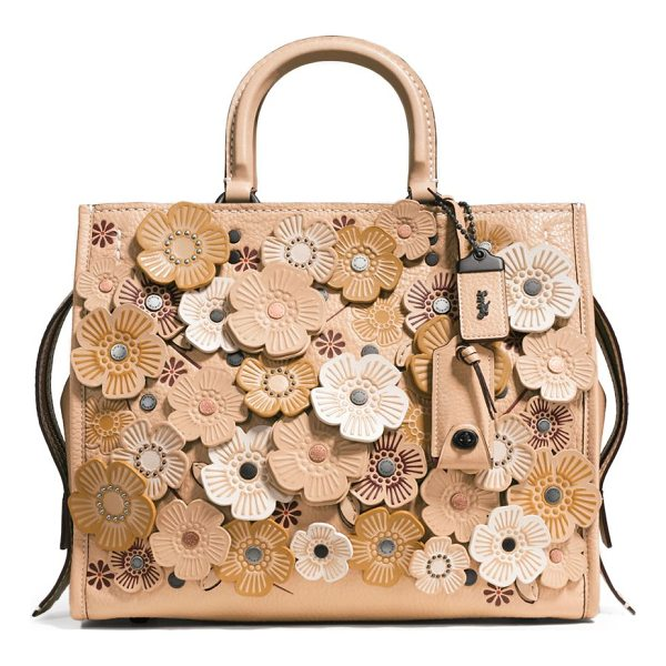 COACH 1941 tea rose applique leather rogue bag - From the 1941 collection. Intricate tea rose appliques...