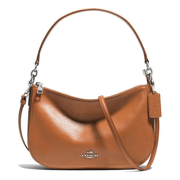 COACH chelsea leather crossbody bag - Modern, minimalist crossbody in smooth leather. Top handle,