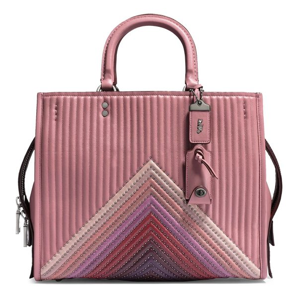COACH 1941 rogue colorblock leather handbag - Quilted colorblock leather satchel with rivet details....