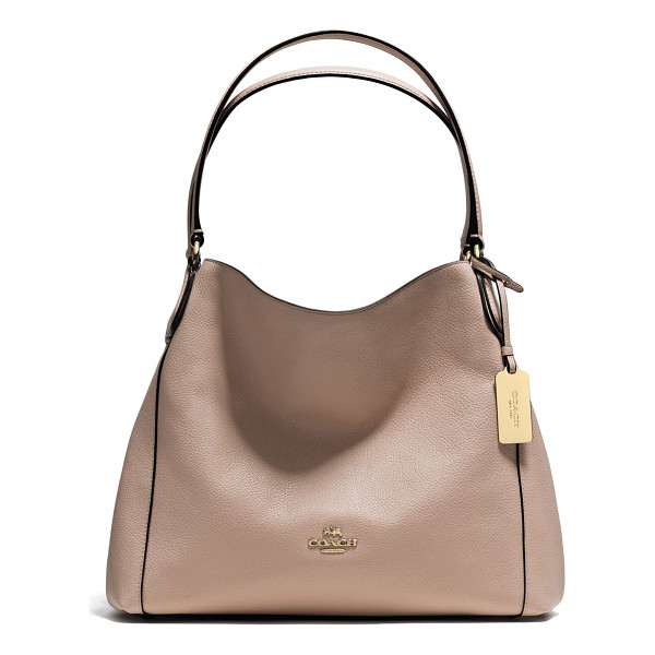 COACH Edie pebbled leather shoulder bag - In a beautiful representation of form-meets-function, this...