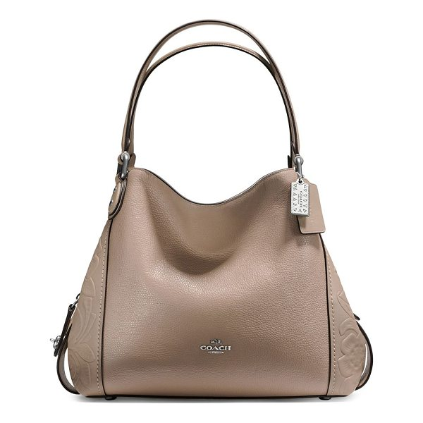 COACH edie tooled leather hobo bag - From the Novelty Leather collection. Leather hobo bag with...