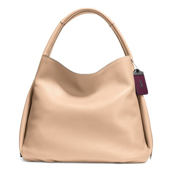 COACH 1941 glovetanned pebble leather hobo bag - Unstructured pebbled leather hobo bag with interior floral...