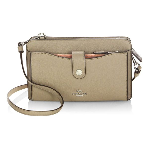 COACH leather crossbody bag - Multifunctional leather bag in pebbled finish. Removable...