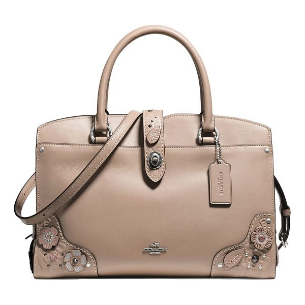 COACH mercer leather satchel - From the Novelty Leather collection. Leather satchel with...