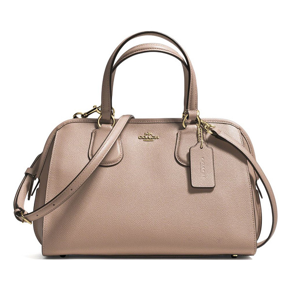 COACH Nolita mini textured leather satchel - A classic you'll reach for again and again, this richly...