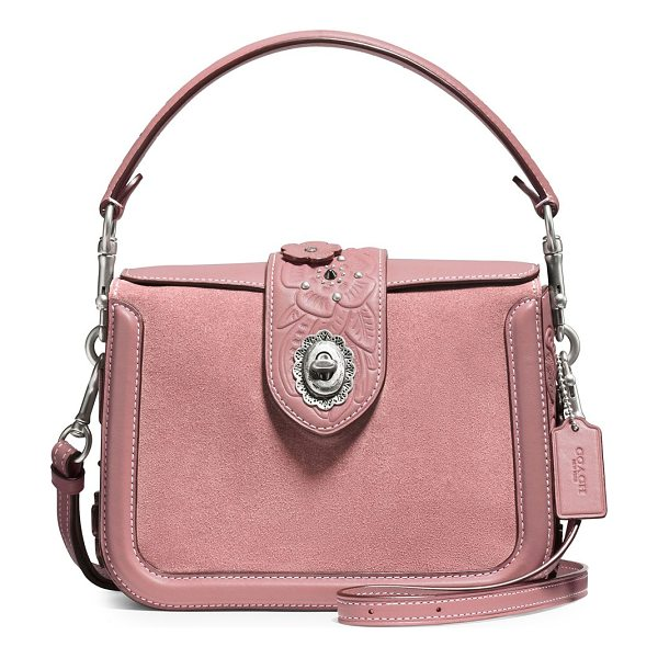 COACH page leather and suede crossbody bag - From the Novelty Leather collection. Leather crossbody bag...