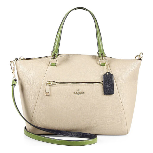 COACH Prairie multicolor leather tote - Beautifully shaped tote with chic pops of colorDouble top...
