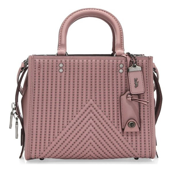 COACH 1941 rivet rouge leather handbag - Stud details give this leather shoulder bag a downtown...