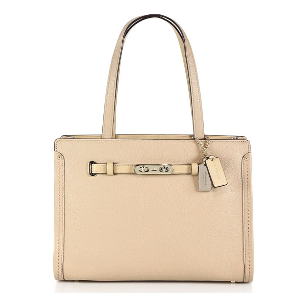 COACH Swagger small leather tote - The perfect companion for work or weekend, this structured...