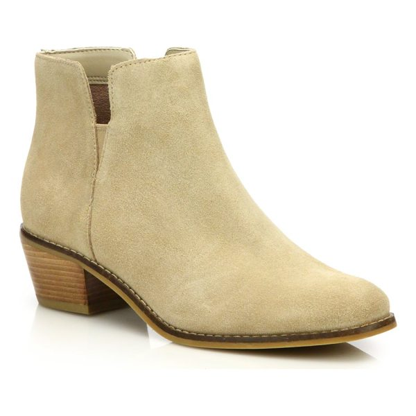 COLE HAAN abbot suede booties - Classically cool booties with a low, chunky heel, crafted...