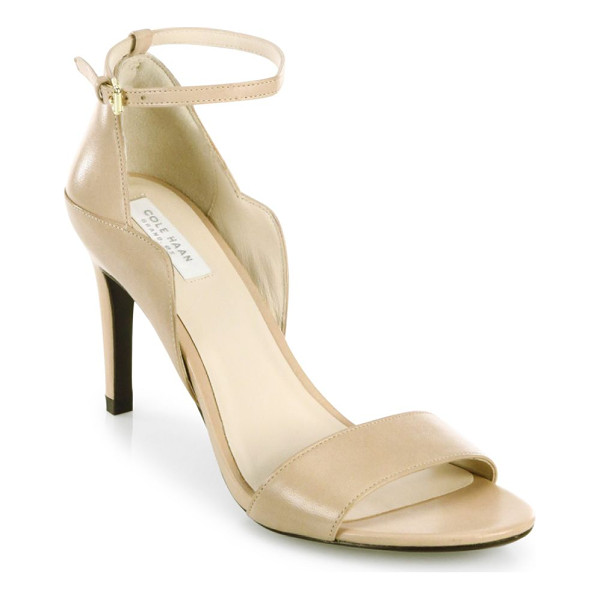 COLE HAAN grace leather ankle strap sandals - Impeccably shaped sandals rendered in rich leather....