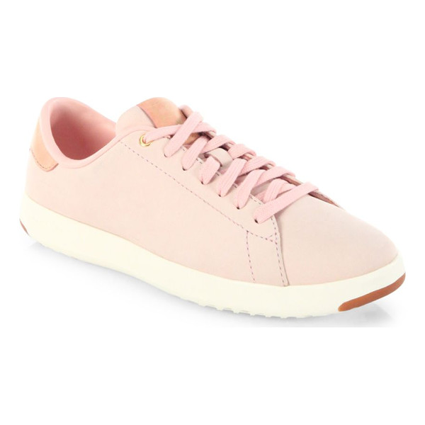 COLE HAAN grandpro lace-up tennis sneakers - Tennis inspired sneakers crafted from smooth leather....
