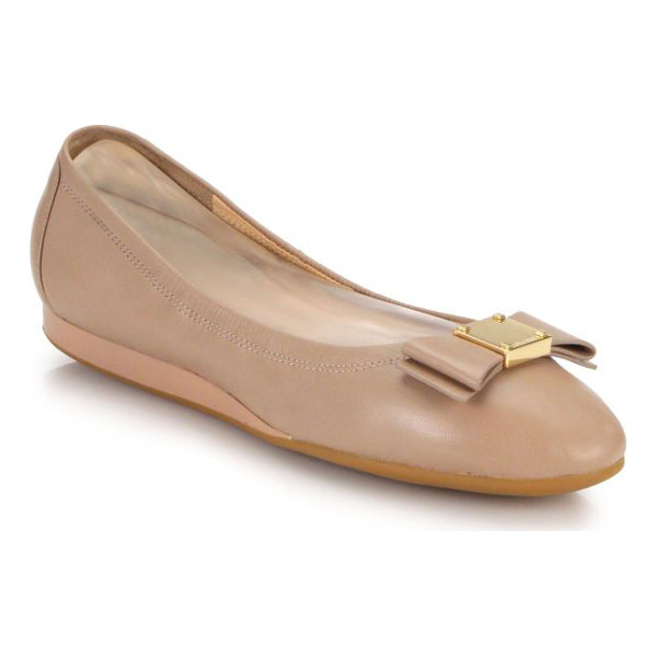 COLE HAAN tali bow leather flats - Must-have, polished leather flats, punctuated with ladylike...