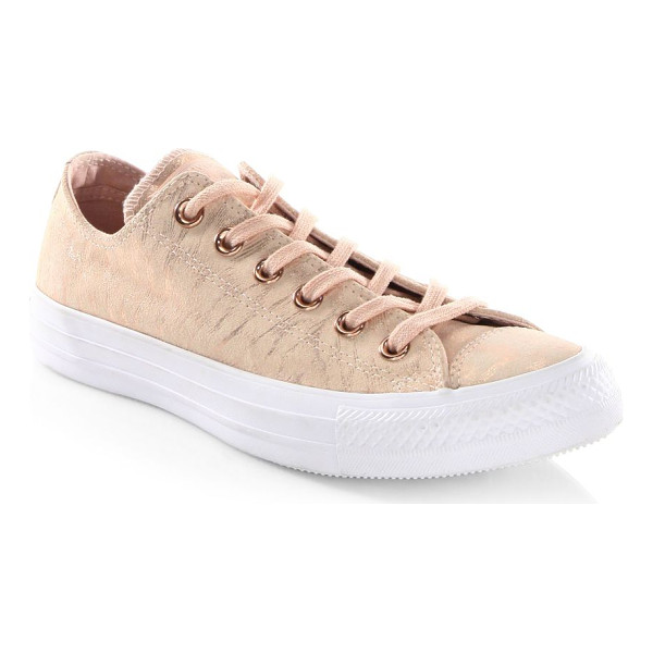 CONVERSE ctas ox suede sneakers - Soft suede with metallic luster revamps classic style....