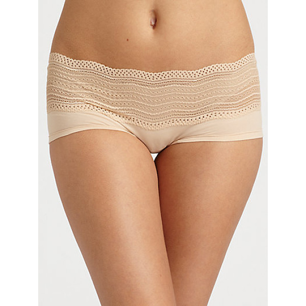 COSABELLA dolce boyshorts - Delicate soft stretch bands of chevron lace and fine...