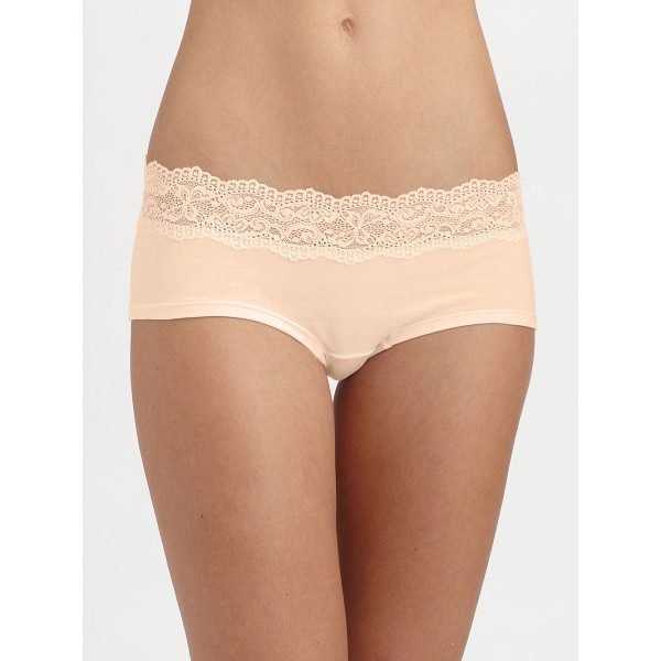 COSABELLA ever hotpants - The best little basic with lace trim in a soft, cotton...