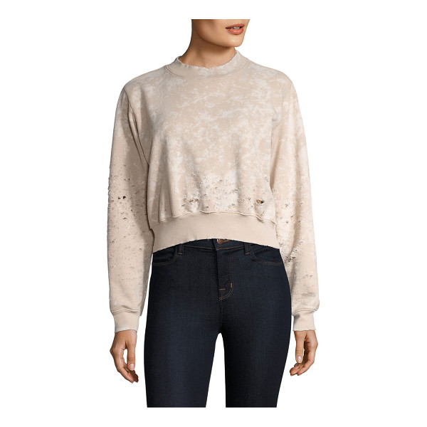 COTTON CITIZEN milan cropped crewneck sweatshirt - Fashionable cropped silhouette with distressed details....