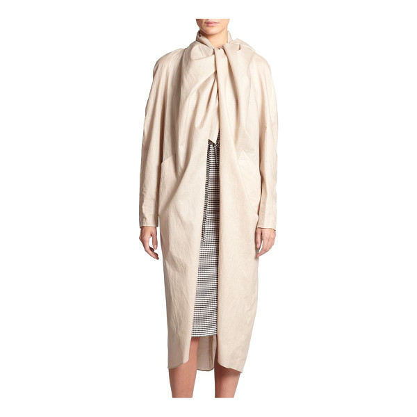 CREATURES OF THE WIND Jet waterproof jacket - An elegant draped collar is the focal point of this...