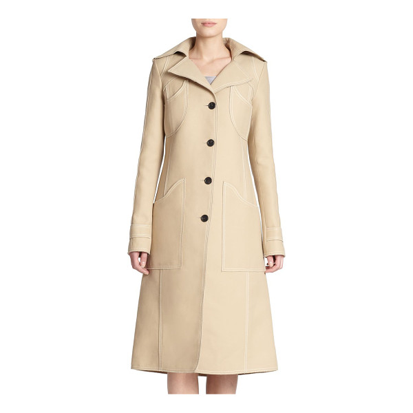 DEREK LAM Cotton & silk trenchcoat - Crafted in a luxurious cotton and silk blend, a classic...