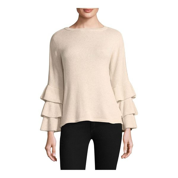 DESIGN HISTORY exclusive ruffle sleeve sweater - EXCLUSIVELY AT SAKS.COM.Chic sweater with ruffle detail....