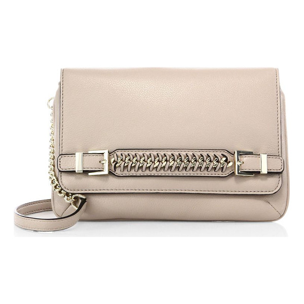 DIANE VON FURSTENBERG Iggy chain leather clutch - Compact leather clutch with woven chain-trim...