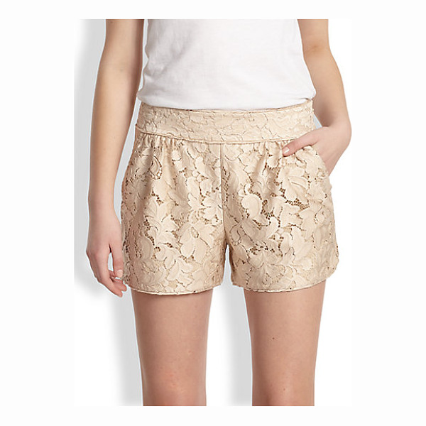 DIANE VON FURSTENBERG Madonna lace shorts - A tailored style in intricate floral lace with a subtle...