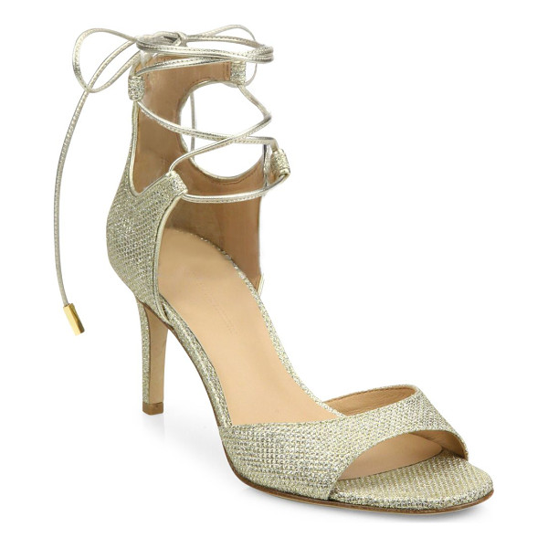 DIANE VON FURSTENBERG rimini 2 diamond-textured sandals - Glittery diamond textures dazzle in this chic pair....