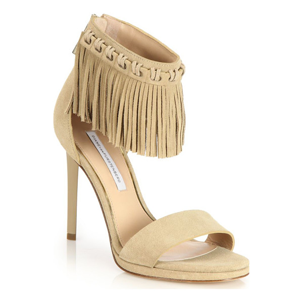 DIANE VON FURSTENBERG Sian fringed suede sandals - Swingy fringed cuff styles trend-right suede...