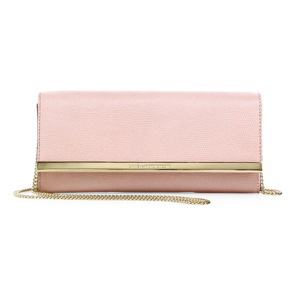 DIANE VON FURSTENBERG soiree embossed clutch - Petite crossbody in shimmery embossed leather. Chain strap,...