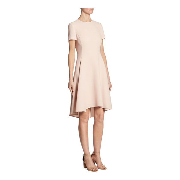 DKNY asymmetrical hem short sleeve dress - Feminine dress detailed with asymmetrical hem. Roundneck....