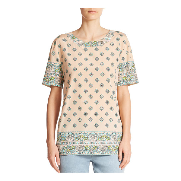 DKNY Silk paisley tee - A feminine mixed paisley print casts a graphic twist on the...