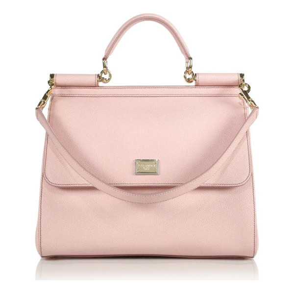 DOLCE & GABBANA Large miss sicily leather top-handle satchel - Simple yet sophisticated, this top-handle Sicily is cut...