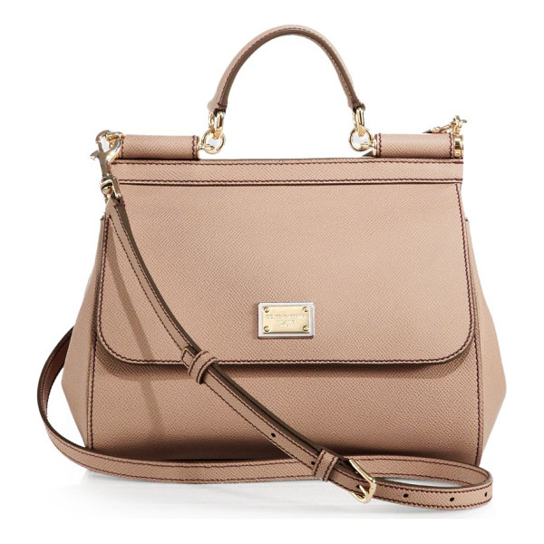 DOLCE & GABBANA medium miss sicily leather top-handle satchel - Simple yet sophisticated, this top-handle Sicily is cut...