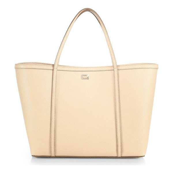 DOLCE & GABBANA Textured leather tote - Just because a bag is exceedingly practical doesn't mean it...