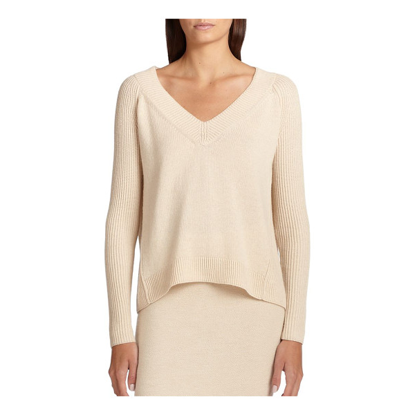 DONNA KARAN Cashmere v-neck sweater - A plush cashmere sweater is defined by an elegant V-neck...