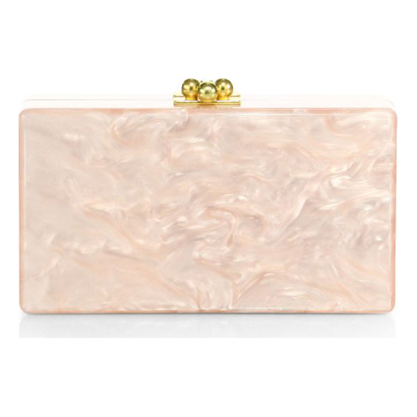 EDIE PARKER jean acrylic box clutch - Handmade acrylic statement clutch with full-length interior